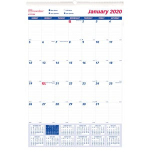 Brownline Monthly Wall Calendar REDC171104