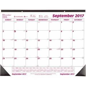 Brownline Monthly Desk/Wall Calendar REDC173116