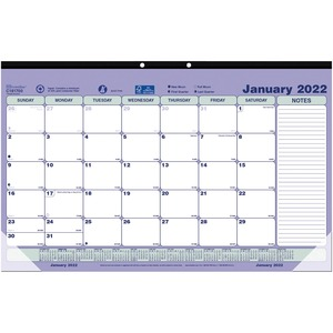 Brownline Monthly Desk/Wall Calendar Pad REDC181700