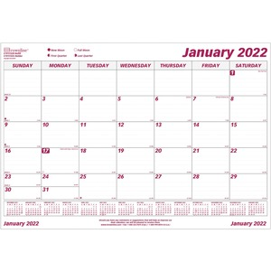 Brownline Monthly Planning Desk Calendar Refill REDC191722R