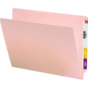 Smead 25610 Pink End Tab Colored File Folders with Reinforced Tab SMD25610