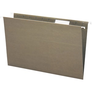 Smead Standard Green 100% Recycled Hanging File Folders with Tab SMD65061