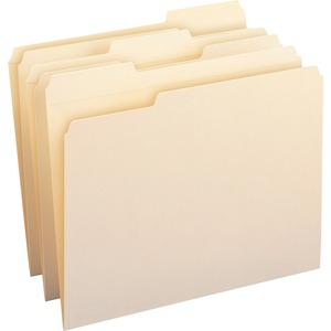 Smead 10347 Manila 100% Recycled File Folders with Reinforced Tab SMD10347
