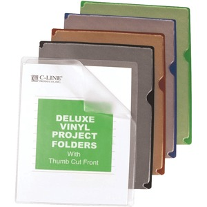 C-line Deluxe Colored Back Vinyl Folders CLI62150