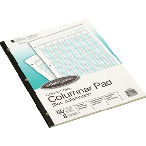 Wilson Jones Side-Bound Punched Columnar Pads WLJG7208A