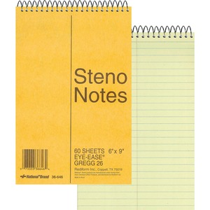Rediform National Wirebound Steno Notebook RED36646