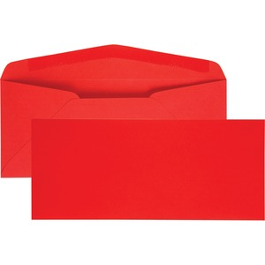 Quality Park No. 10 Bright Red Business Envelopes QUA11134