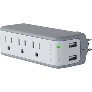 Belkin 5-Outlets Mini Surge Suppressors with USB Charger BLKBZ103050TVL