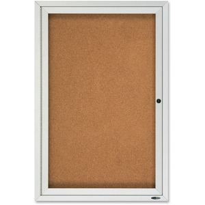Quartet Enclosed Cork Outdoor Bulletin Board QRT2121