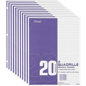Mead Paper Filler Quad Rule MEA19010