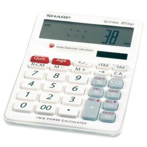 Sharp Brain Exerciser Calculator SHRELT100AB