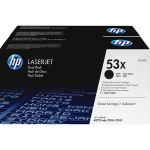 HP 53X 2-pack High Yield Black Original LaserJet Toner Cartridges HEWQ7553XD