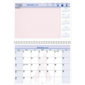 At-A-Glance QuickNotes Breast Cancer Awareness Calendar AAGPMPN5028