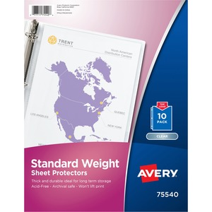 Avery Standard Weight Sheet Protector AVE75540