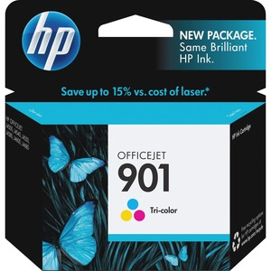 HP 901 Ink Cartridge - Cyan, Magenta, Yellow HEWCC656AN