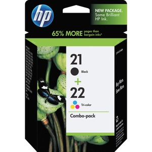 HP 21/22 Combo Pack Ink Cartridge - Black, Color HEWC9509FN