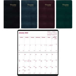 Brownline Brownline Saddle Stitched Two Year Monthly Planner REDCA24AST