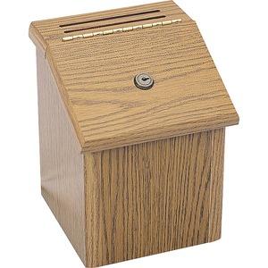Safco Locking Wood Suggestion Box Servmart