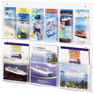 Safco Clear2c Magazine/Pamphlet Display SAF5666CL