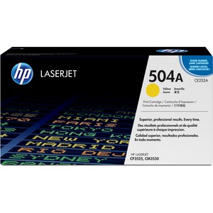 HP 504A (CE252A) Yellow Original LaserJet Toner Cartridge HEWCE252A