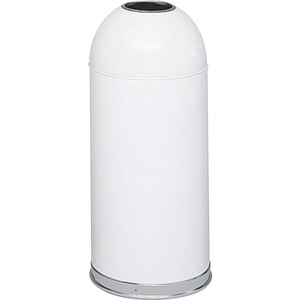 Safco Open Top Dome Waste Receptacle SAF9639WH