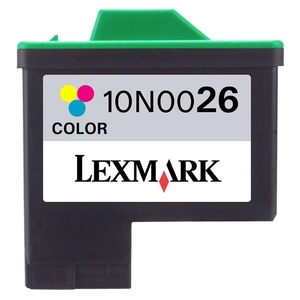 Lexmark No. 26 Tri-color Ink Cartridge LEX10N0026