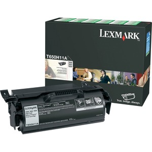 Lexmark High Yield Return Program Black Toner Cartridge LEXT650H11A