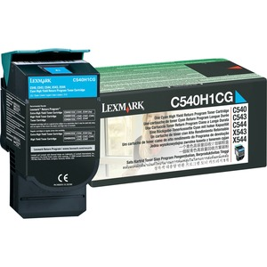 Lexmark Return High Capacity Cyan Toner Cartridge LEXC540H1CG