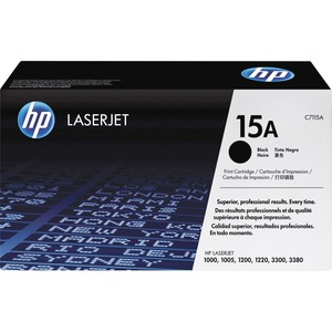 HP 15A Black Original LaserJet Toner Cartridge HEWC7115A