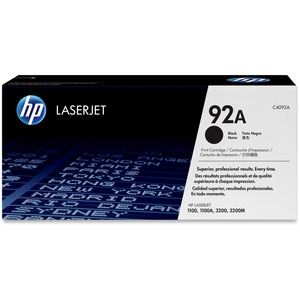 HP 92A (C4092A) Black Original LaserJet Toner Cartridge HEWC4092A