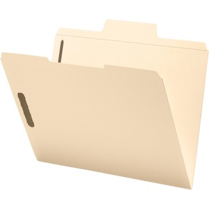 Smead 14535 Manila SuperTab Fastener File Folders with Oversized Tab SMD14535