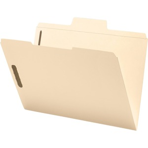 Smead 19535 Manila SuperTab Fastener File Folders with Oversized Tab SMD19535