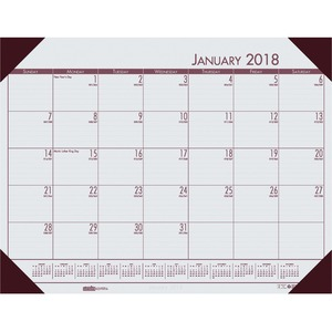 House of Doolittle EcoTones Desk Pad Calendar HOD12442