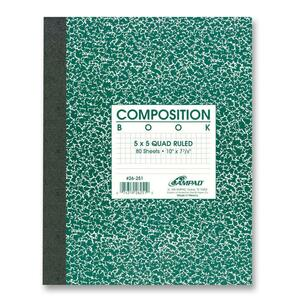 Oxford Quad-ruled Composition Book ESS26251