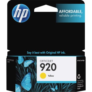 HP 920 Ink Cartridge - Yellow HEWCH636AN
