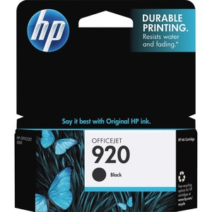 HP 920 Black Original Ink Cartridge HEWCD971AN