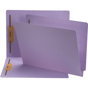 Smead 25540 Lavender End Tab Colored Fastener File Folders with Reinforced Tab SMD25540