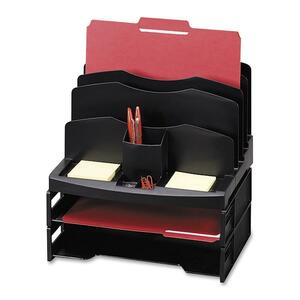 Sparco Smart Solutions Organizer with Two Letter Tray SPR26372