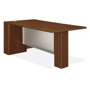 HON Attune Laminate Series Left Peninsula Desk with End Panel HON11822LGFF
