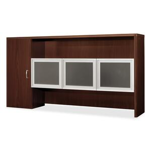 HON Attune Laminate Series Stack-on Storage Hutch with Frosted Doors HON118314GNN