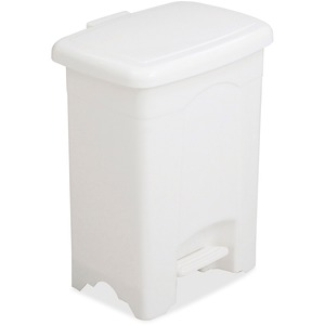 Safco Step-On Plastic Receptacle SAF9710WH