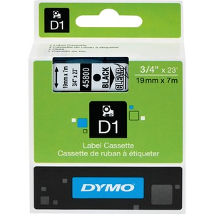 Dymo Black on Clear D1 Label Tape DYM45800