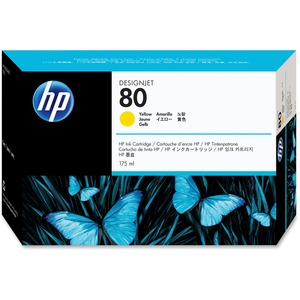 HP 80 Yellow Ink Cartridge HEWC4873A