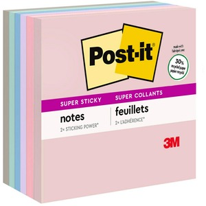 Post-it Recycled Super Sticky Notes in Farmers Market Colors MMM6546SSNRP