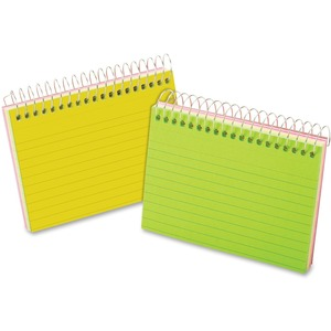 Oxford Spiral Bound Neon Index Card ESS40281
