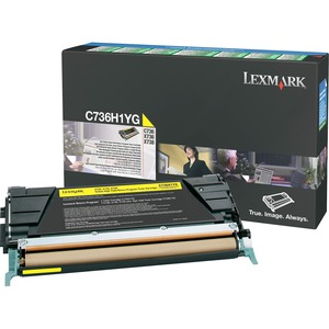 Lexmark Yellow High Yield Return Program Toner Cartridge LEXC736H1YG