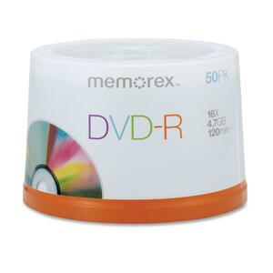 Memorex DVD Recordable Media - DVD-R - 16x - 4.70 GB - 50 Pack Spindle MEM05639
