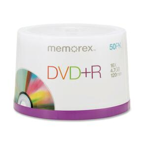 Memorex DVD Recordable Media - DVD+R - 16x - 4.70 GB - 50 Pack Spindle MEM05619