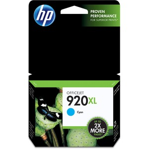 HP 920XL High Yield Cyan Original Ink Cartridge HEWCD972AN