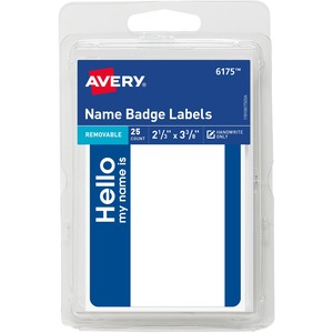 Avery Name Badge Label AVE06175